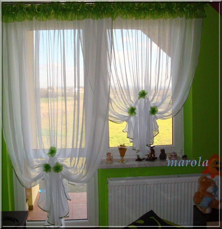 10 Nowa Urocza Firana Okno Balkon Kwiaty Na Bazarekpl