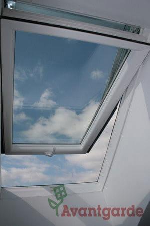 dachfenster kunststoff skylight 55x98 eindeckrahmen fur flaches rollo ebay. Black Bedroom Furniture Sets. Home Design Ideas
